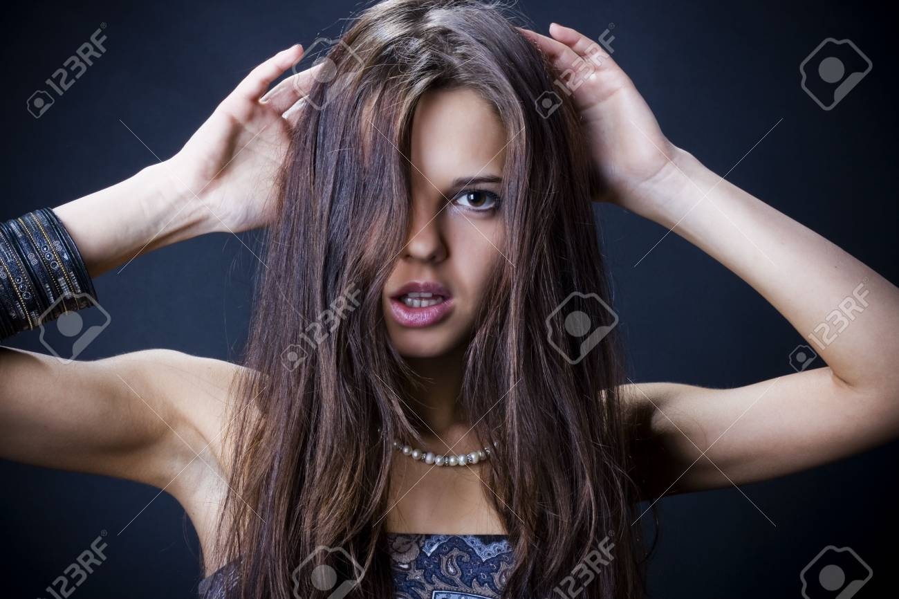 Portrait of a beautiful young woman Stock Photo - 6644666