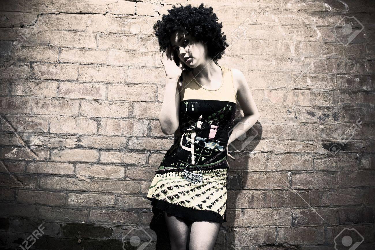 Fashion art photo. The beautiful young girl. Retro styled photo Stock Photo - 6958474