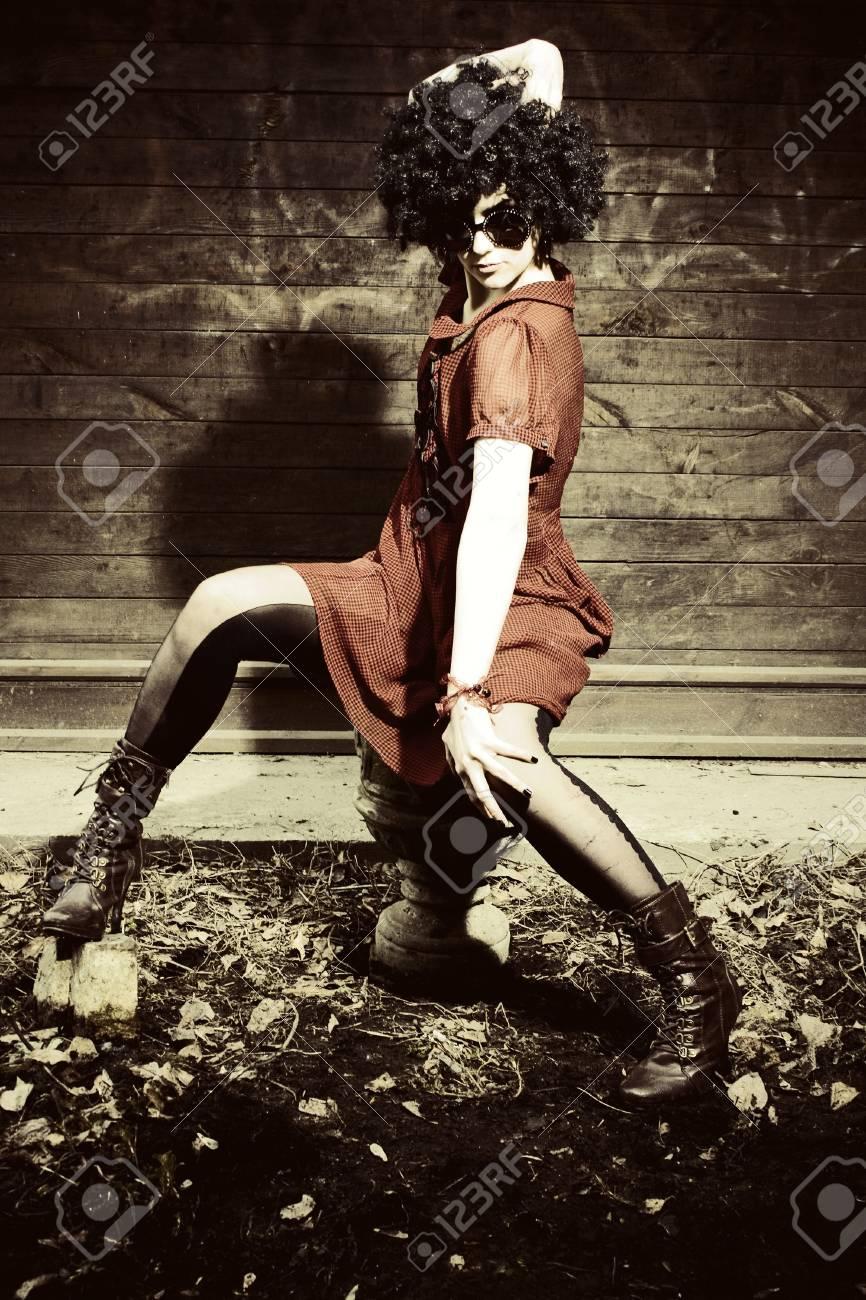 Fashion art photo. The beautiful young girl. Retro styled photo Stock Photo - 6958464