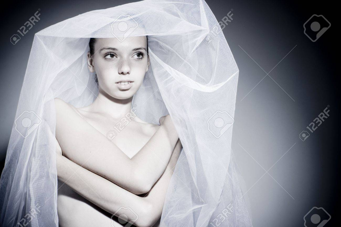 Portrait of the beautiful innocent bride Stock Photo - 7525735