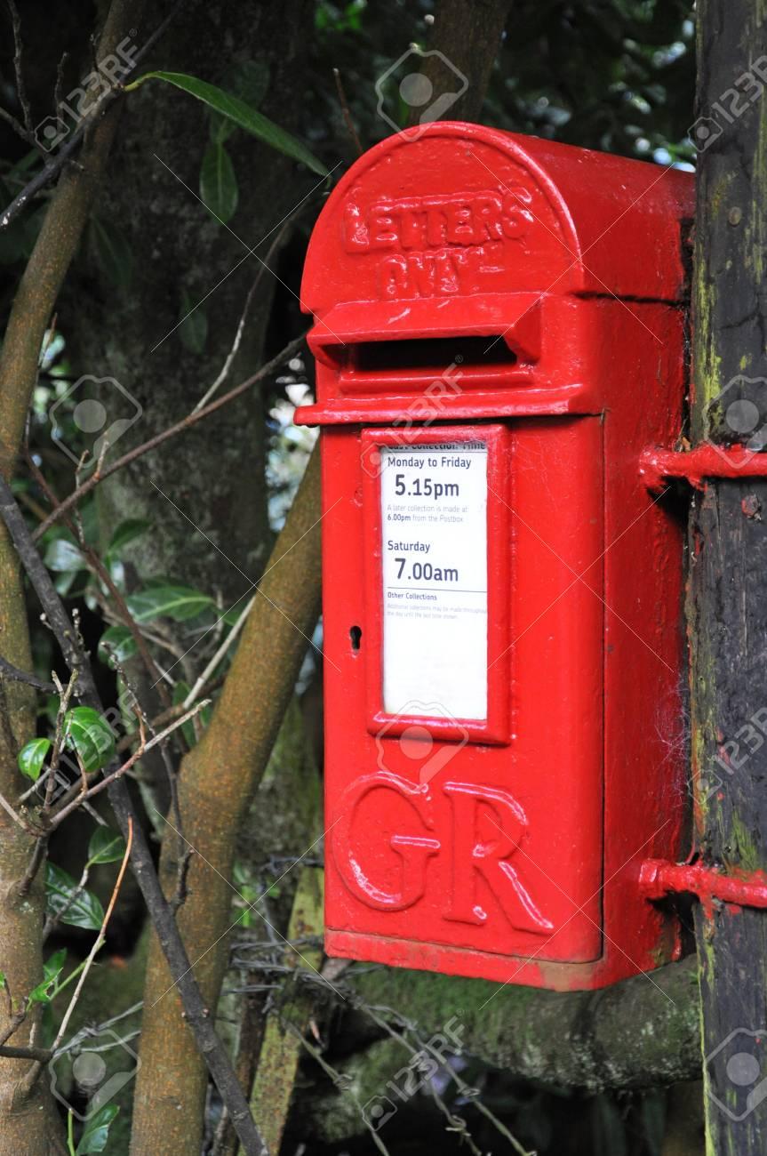 Eine Englische Dorf Briefkasten Im Dorf Belstone Genommen Am