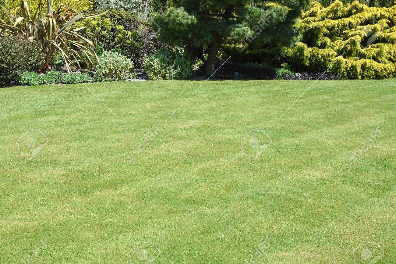 A Perfect English Country Garden With Manicured Lawn And Walled Stock Photo Picture And Royalty Free Image Image 117183340