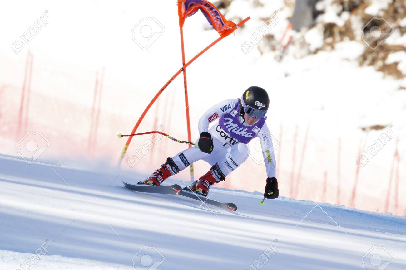 Cortina d'Ampezzo, Italy 23 January 2016  Breezy JOHNSON (USA)