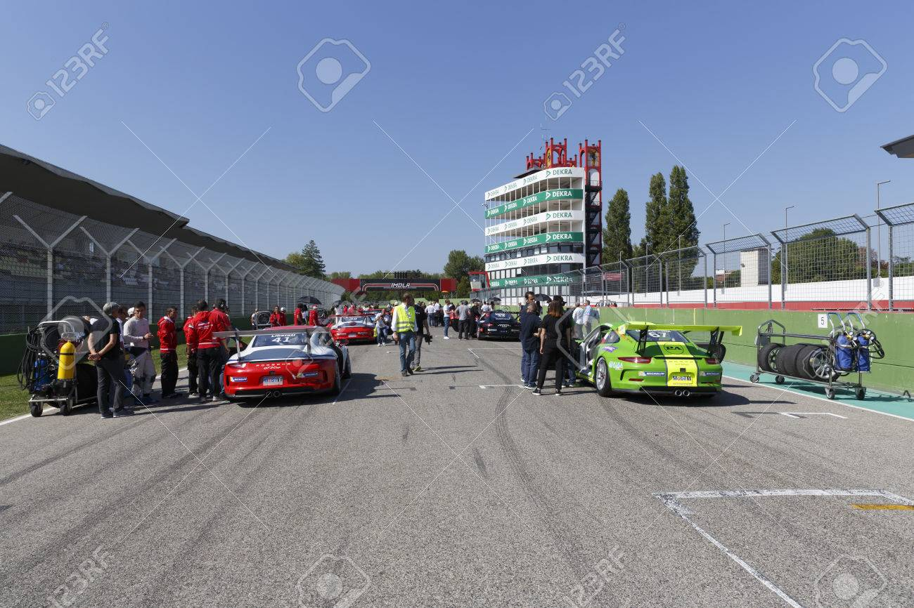 Imola, Italy - September 25, 2016: Cars On Track At Race Of Porsche ...