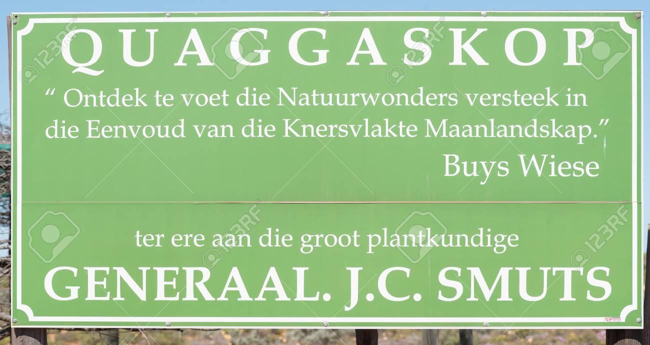 Quaggaskop 自然保護区は、連合...