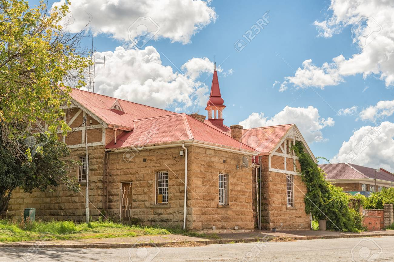 FICKSBURG, SOUTH AFRICA - MARCH 12, 2018: The General J.I.J. Fick museum in Ficksburg in the Free State Province - 104327689