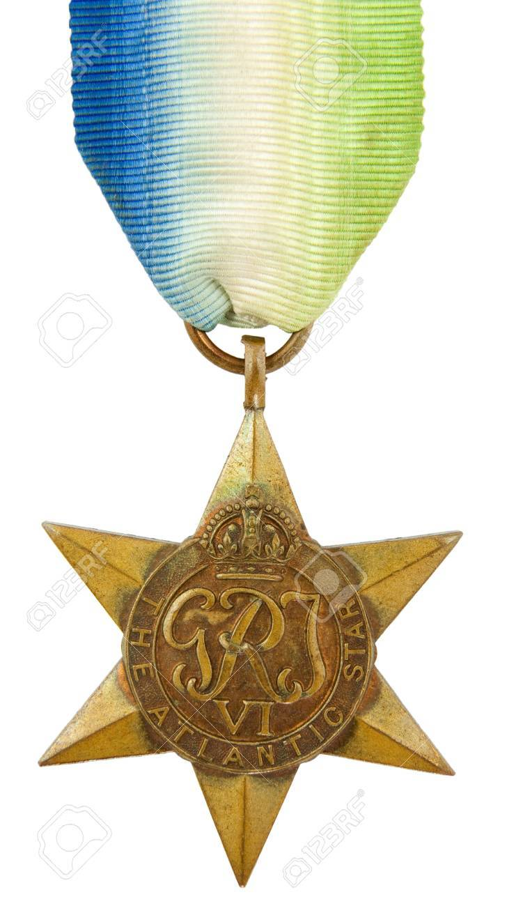 The Atlantic Star Second World War Medal Stock Photo - 12812460