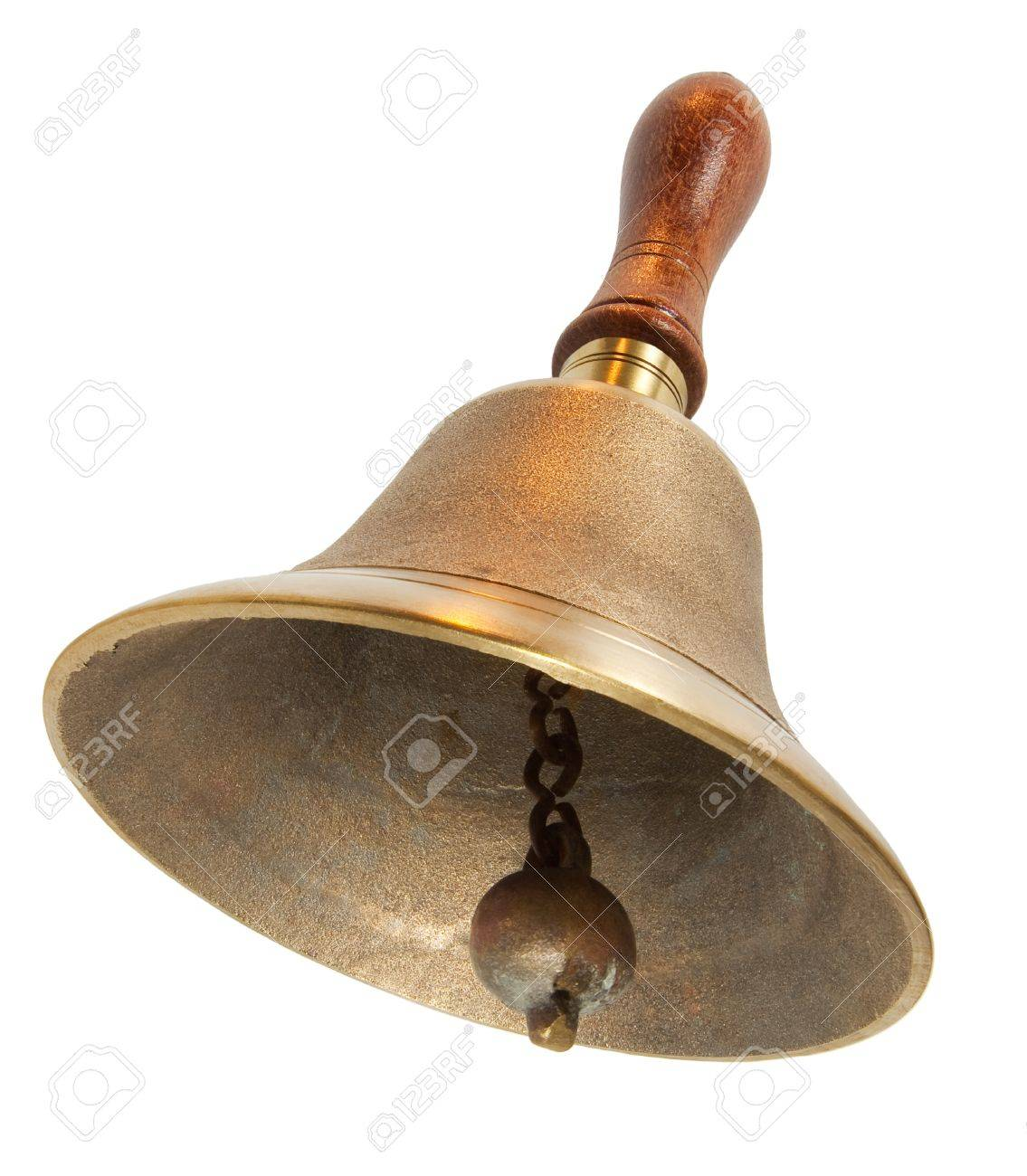 Brass Handbell with Wooden Handle Stock Photo - 12812727