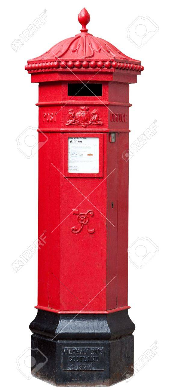 Victorian Postbox isolated on White with clipping path Stock Photo - 15057023