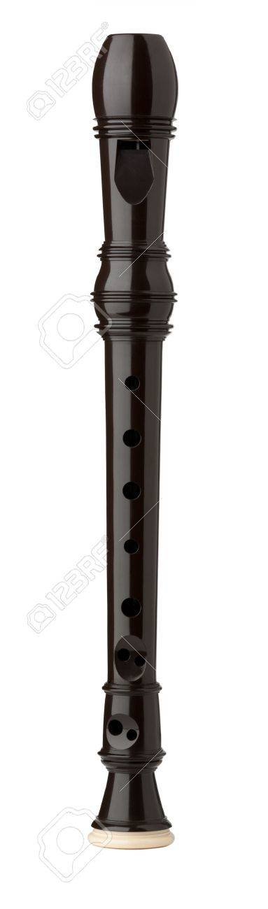 Plastic Sopranino Recorder isolated on white with clipping path Stock Photo - 21785738