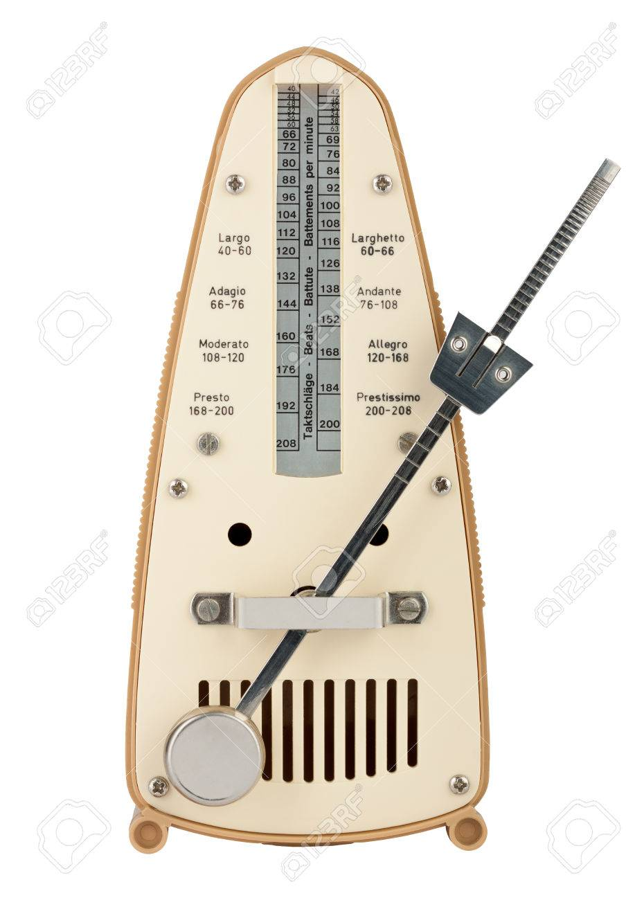 Metronome in motion isolated on white Stock Photo - 26003358