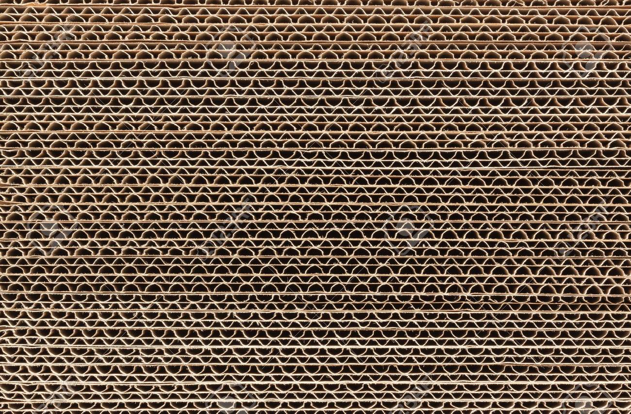 Stack of corrugated cardboard in a large pile Stock Photo - 26790881