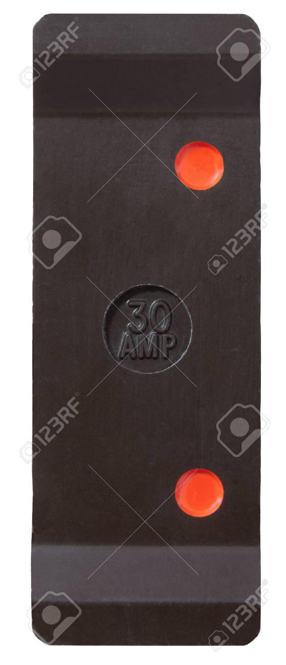 Old 30 Ampere Sicherung Draht-Halter Auf Weiß Mit Beschneidungspfad ...
