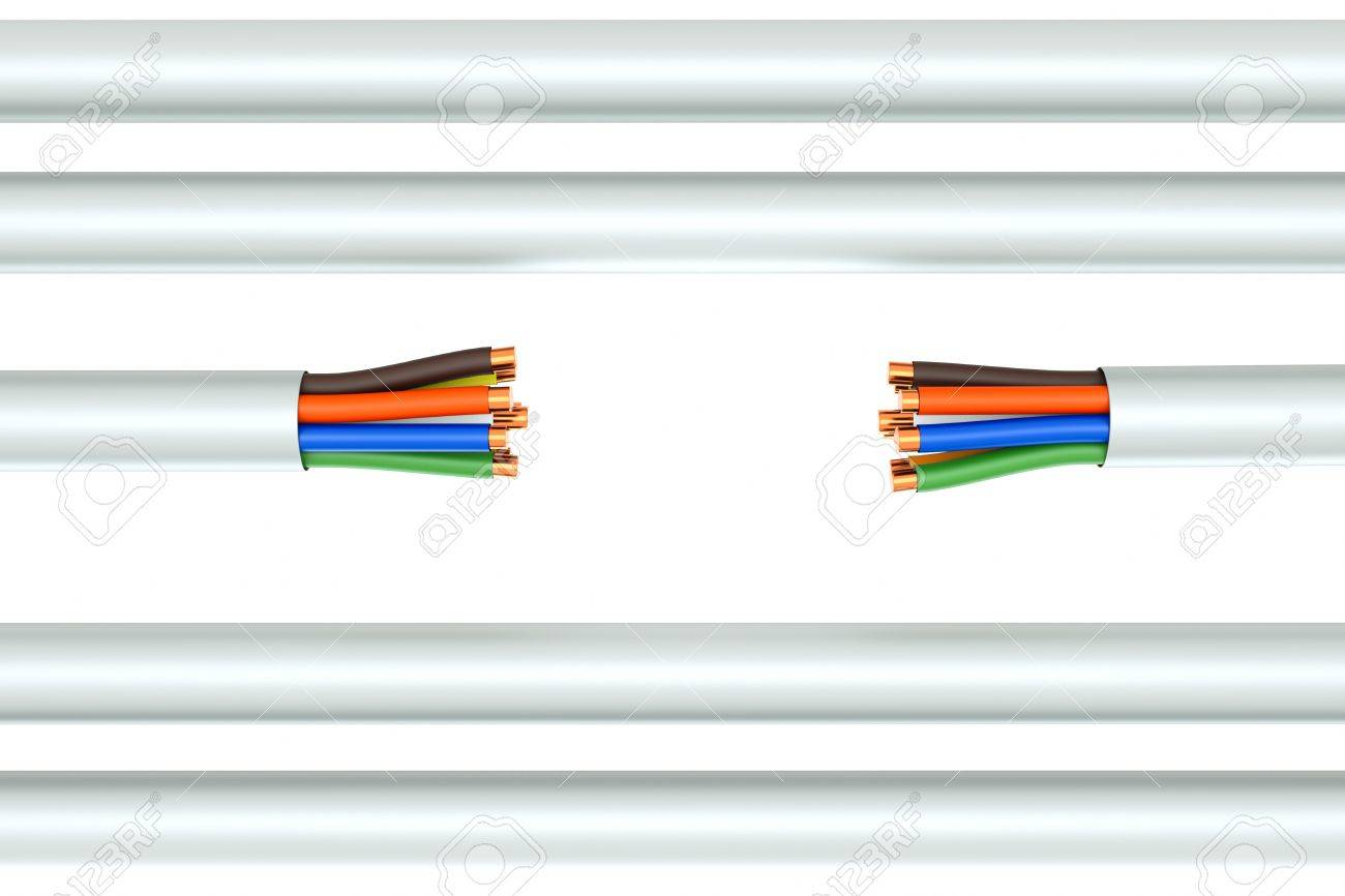 A Wire Background Broken Ethernet Cable Stock Photo Picture And Wiring 10642344