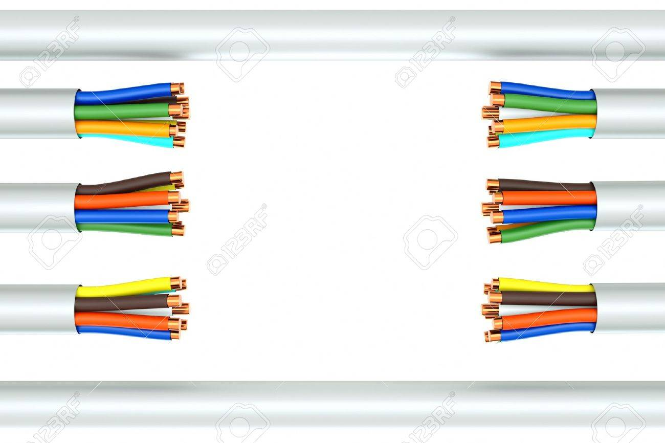 A Wire Background, Broken Ethernet Cable Stock Photo, Picture And ...