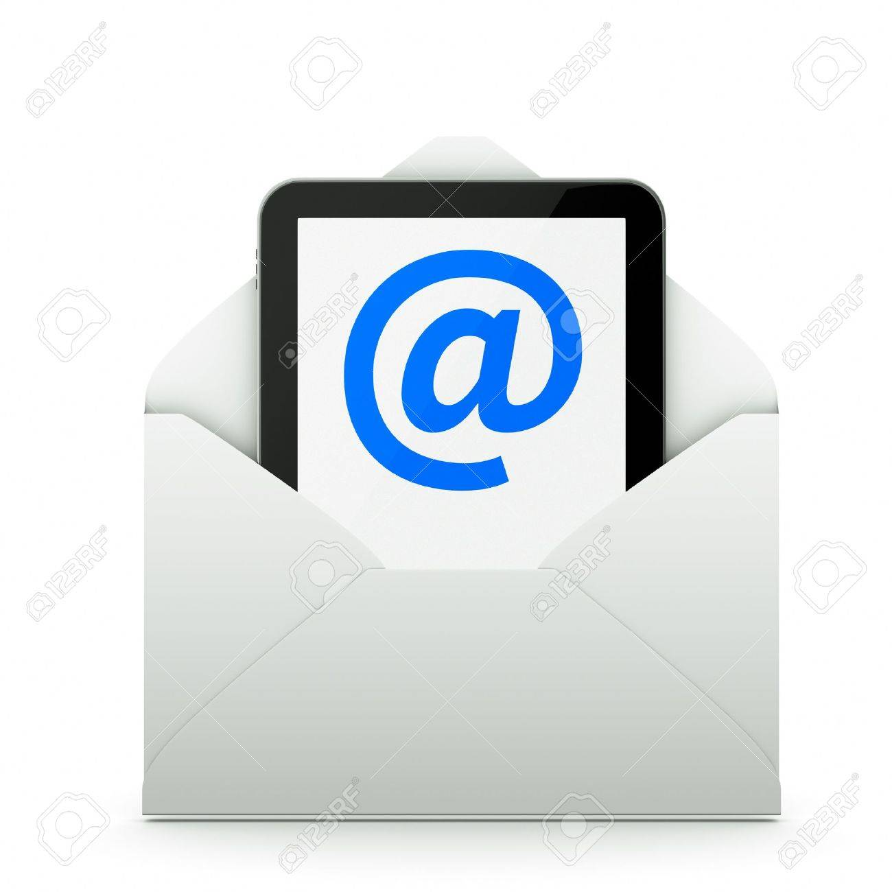 a tablet pc as a mail Stock Photo - 11004424