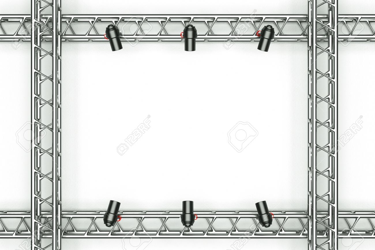 stock photo a center stage with metal frame put your object in the center