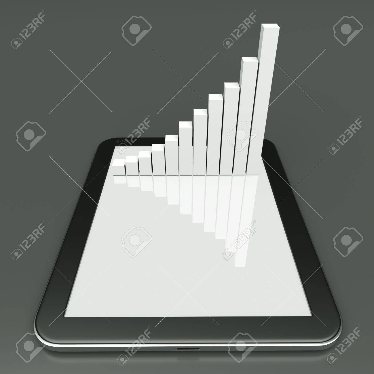 a tablet pc and business diagram as a concept of process of business development Stock Photo - 12711628