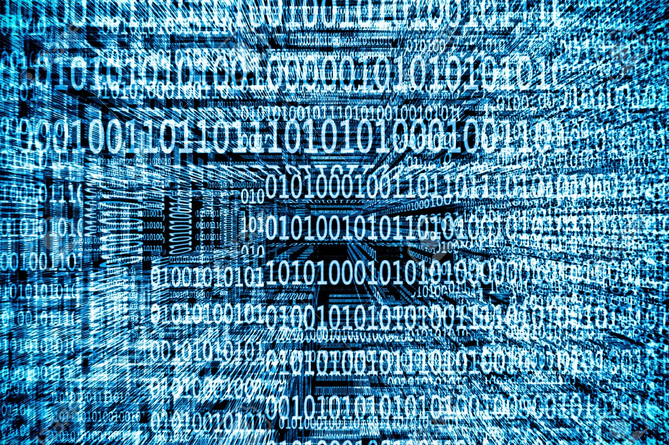 a blue binary codes background Stock Photo - 13570719