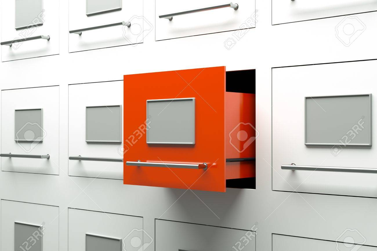 A Drawer Cabinets As A Background