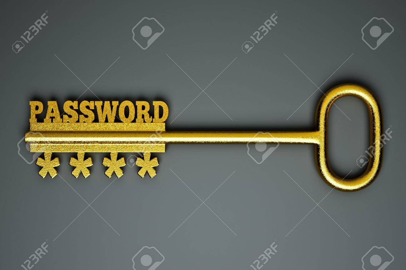 a single key with word