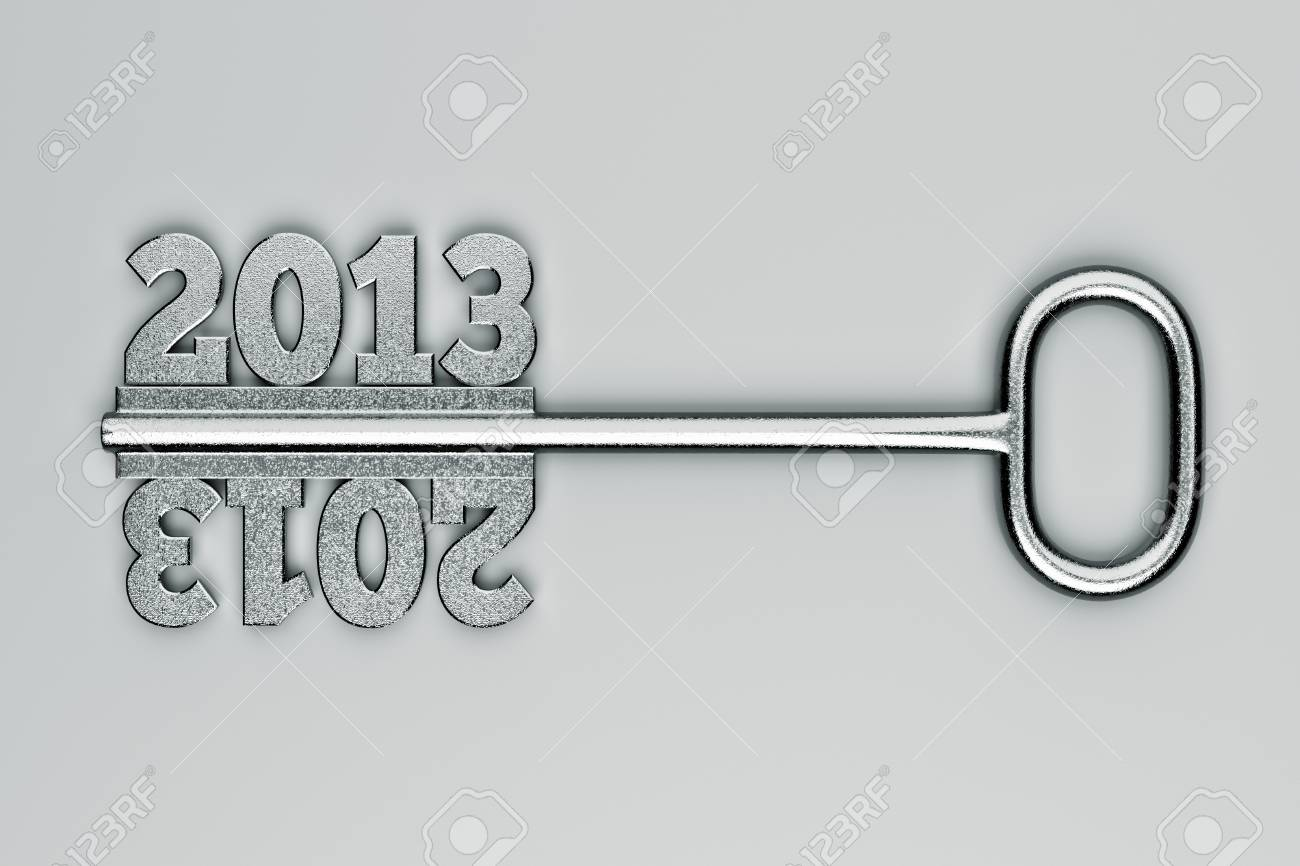 a 2013 concept on grey Stock Photo - 14405244