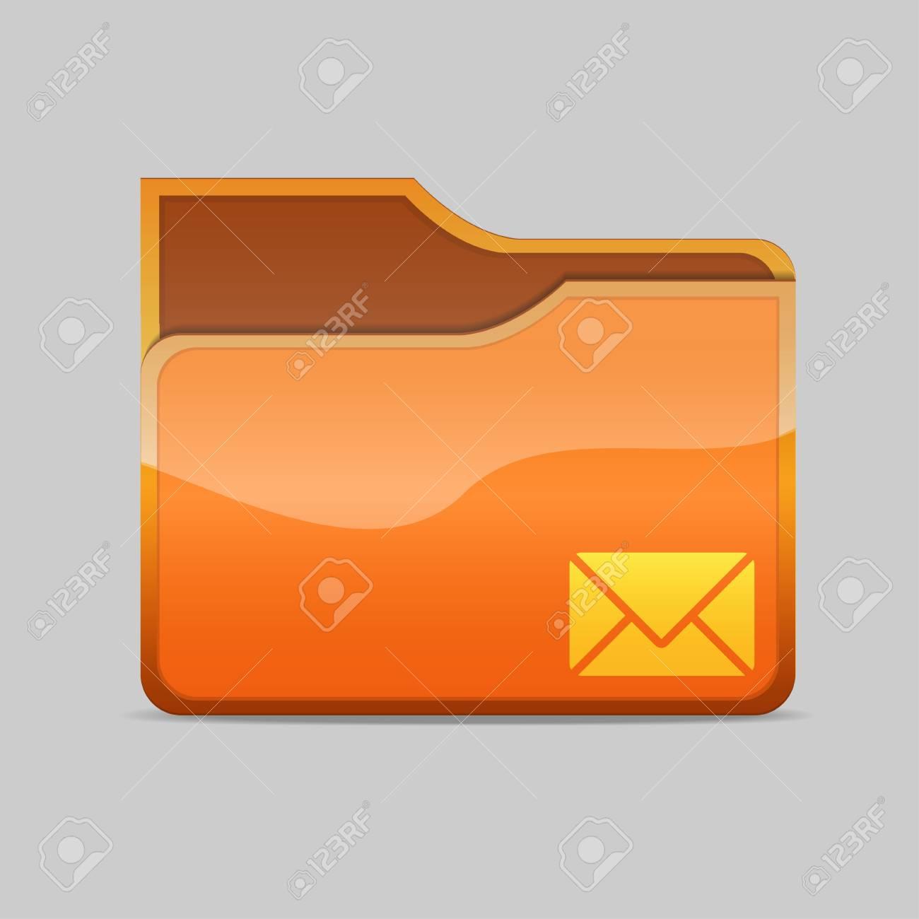 a mail folder icon Stock Photo - 16484501