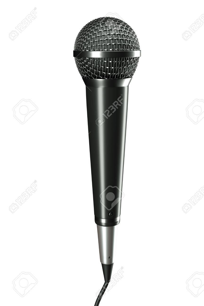 a 3d render of voice mic Stock Photo - 17124311