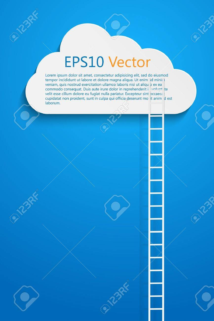 a comptition concept with clods and ladder Stock Vector - 20586956