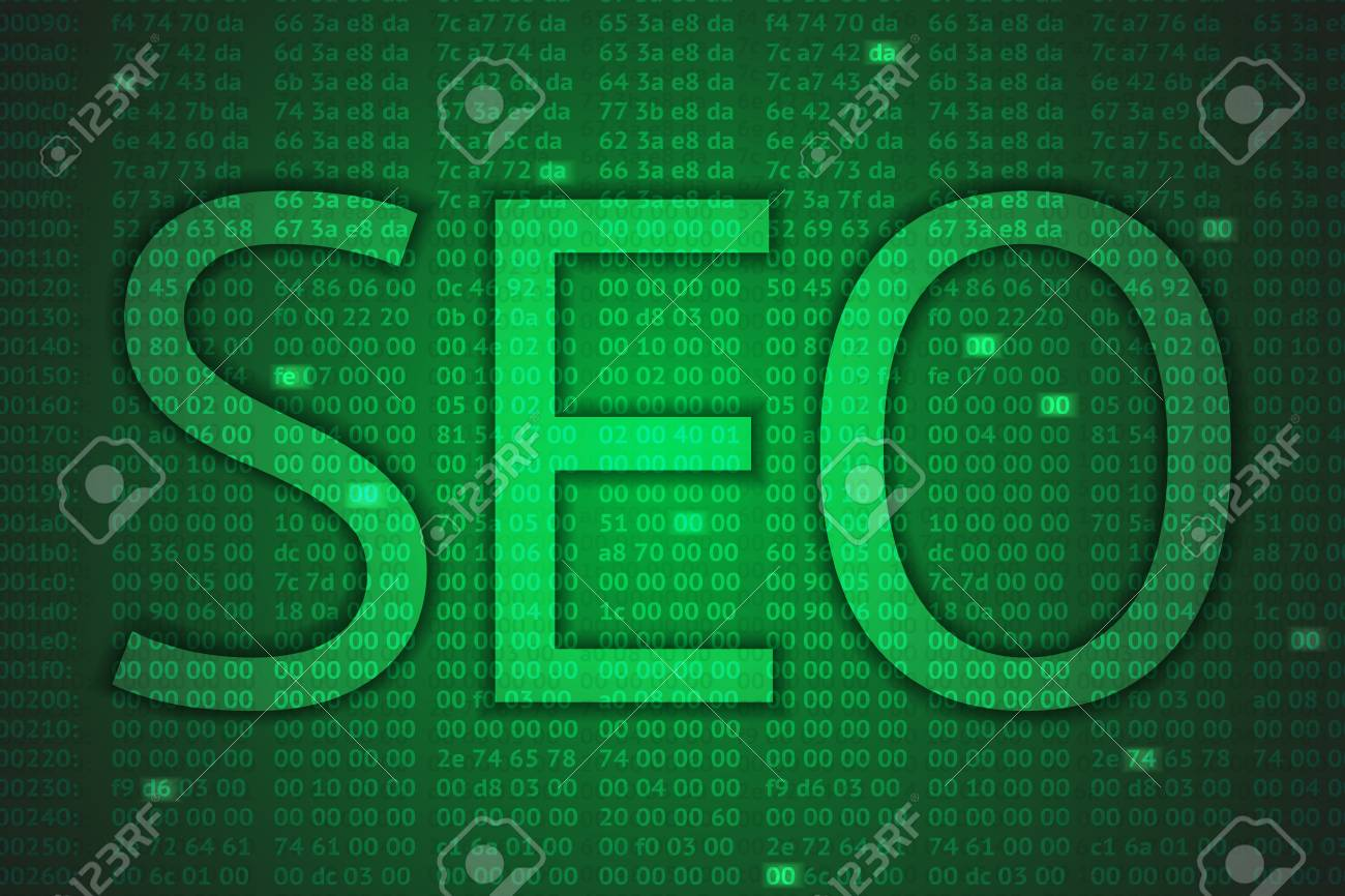 a seo concept with hex codes Stock Vector - 24212972