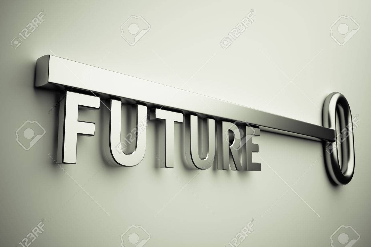 3d render of the key with future text Stock Photo - 25320062