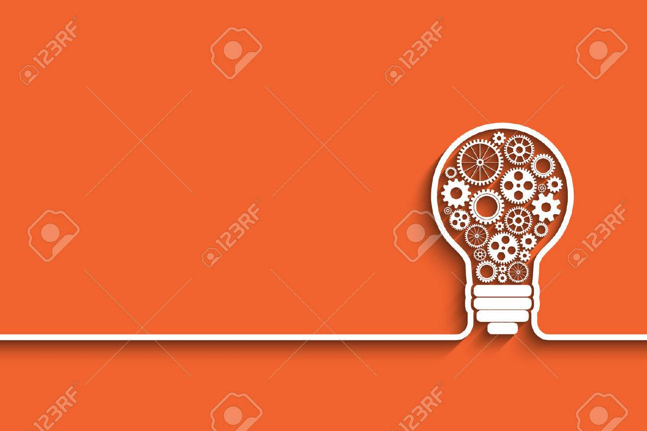 light bulb with gears and cogs working together. vector background for your design - 37851397