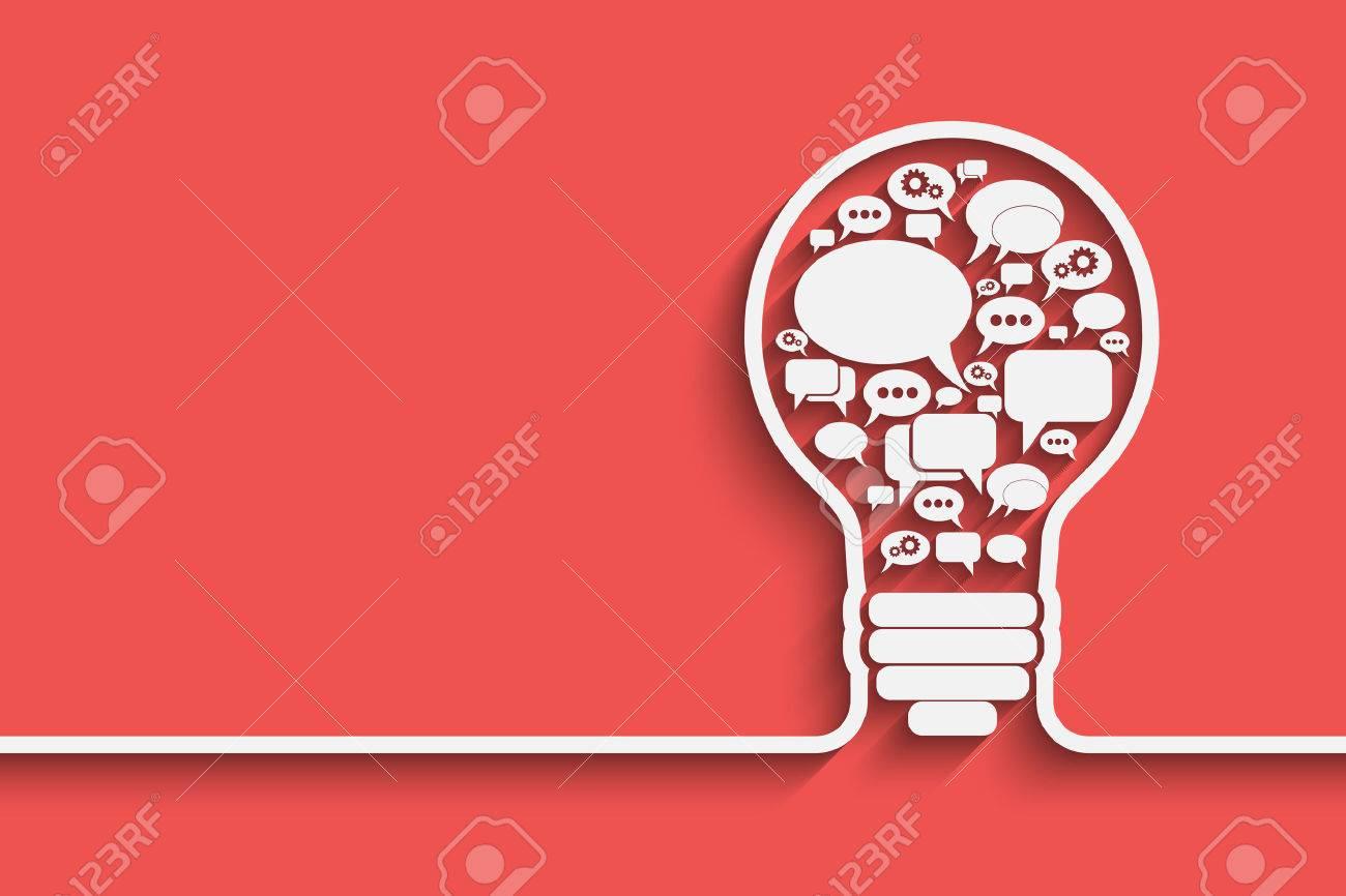bulb with bubble speech, an idea concept, vector illustration for your design - 38814841
