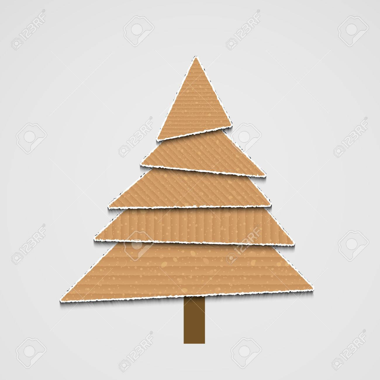 Modern Cardboard Christmas Tree Background For Your Design Royalty