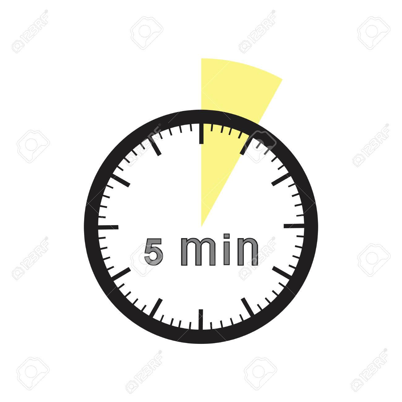 5 minutes timer office clock with yellow 5 min segment royalty free 5 minutes timer office clock with yellow 5 min segment stock vector 71724950 publicscrutiny Image collections