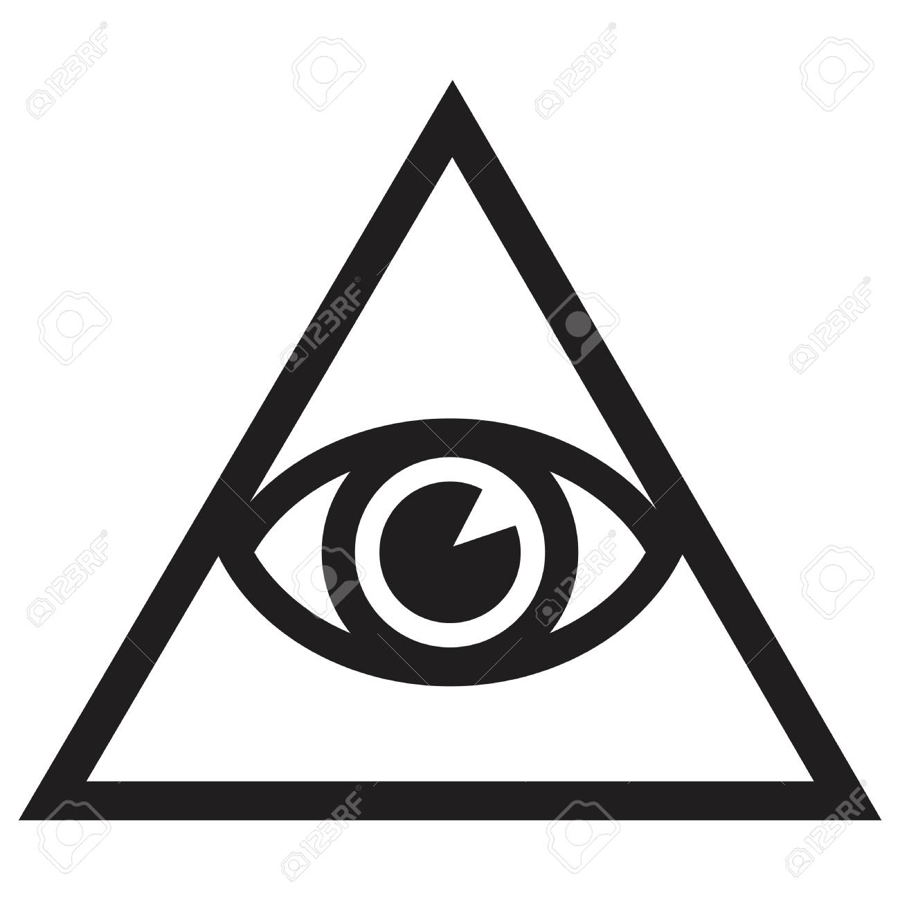 illuminate symbolic icon with all seeing eye royalty free cliparts