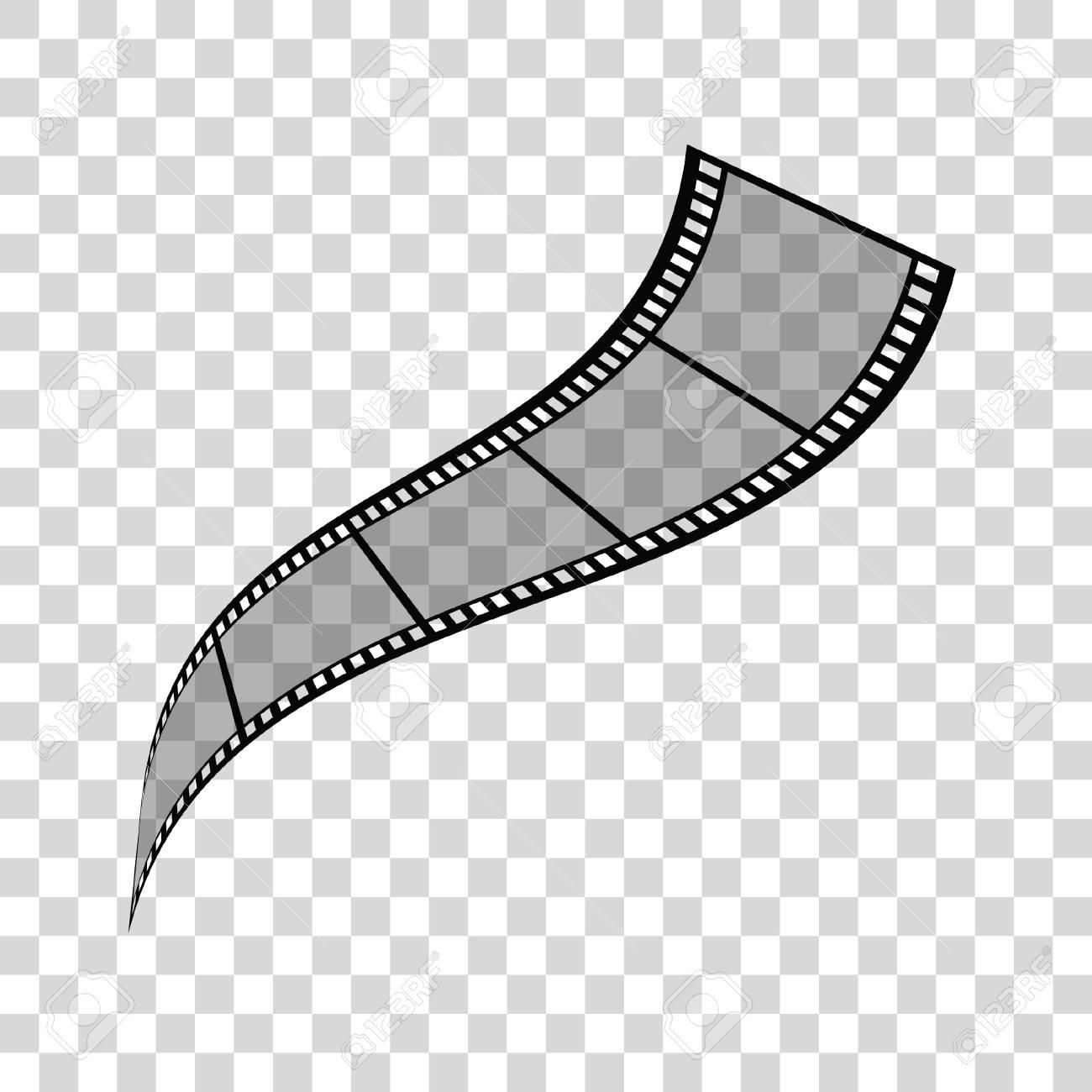 film tape art illustration on transparent background royalty free