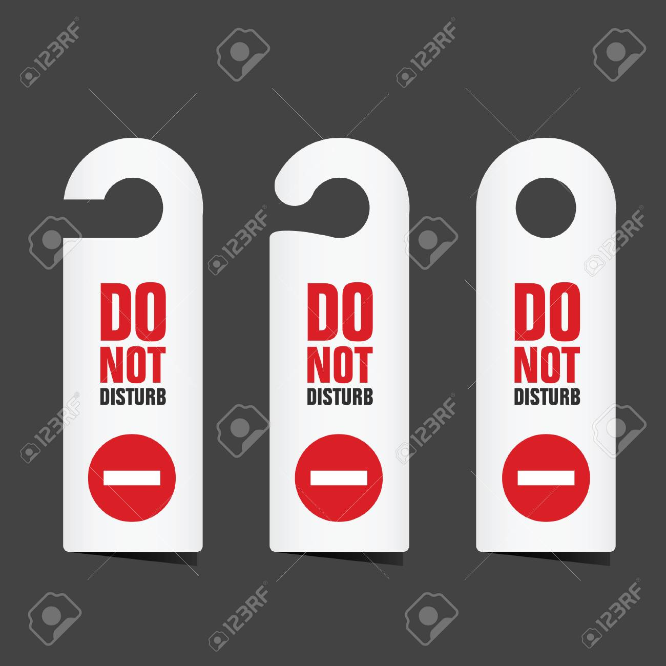 do not disturb sign illustration on grey backgroud royalty free