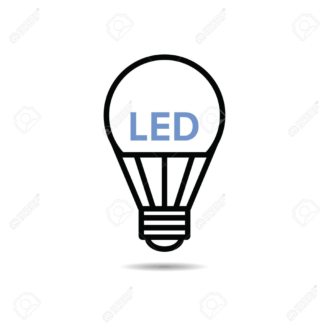 Free Led Vector Icon Illustration Light Royalty Cliparts Bulb byY76gf