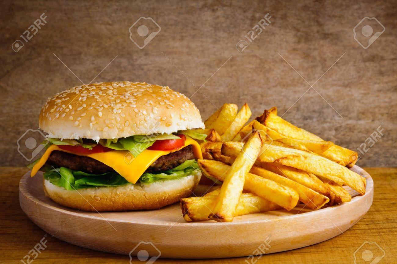 Resultado de imagen para hamburguesa con papas fritas