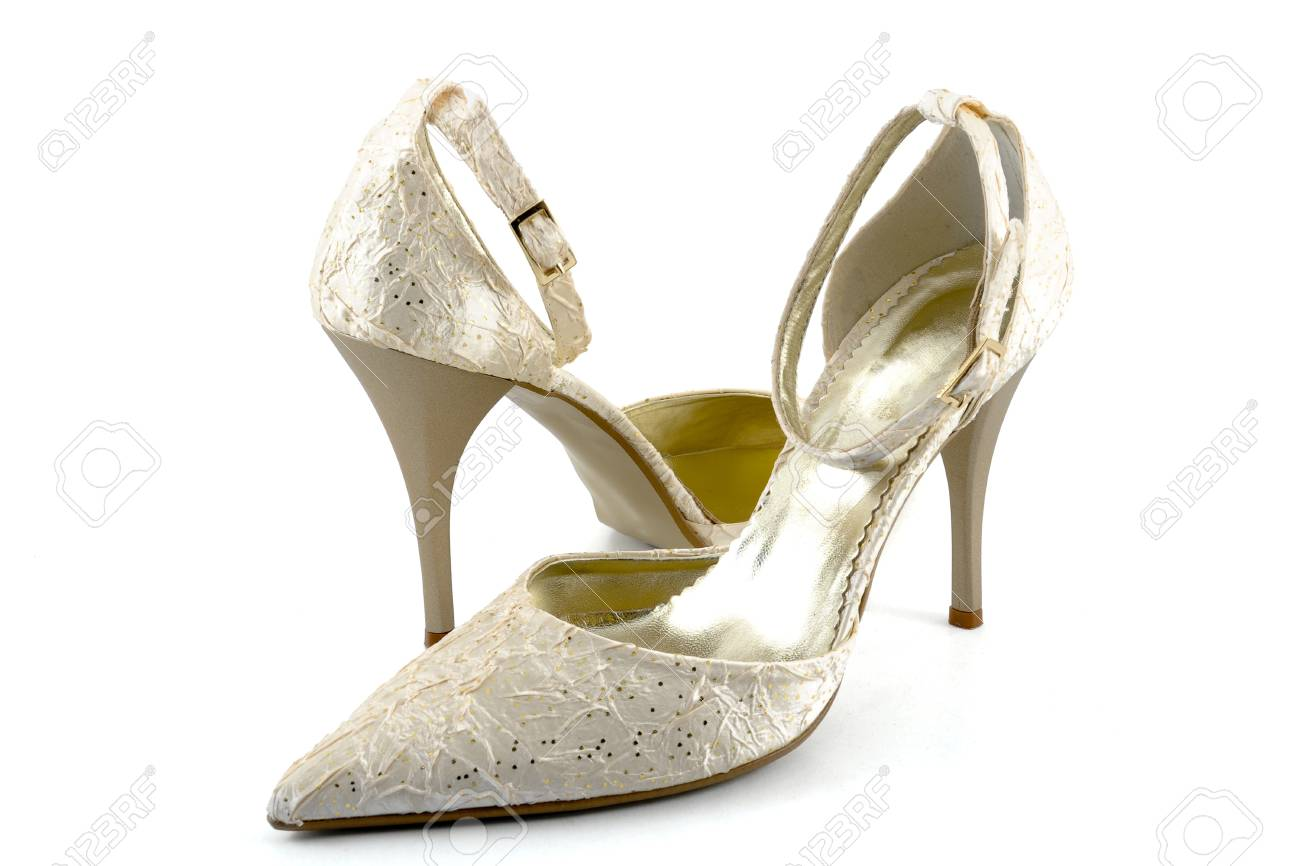 d3ead16f1b Pair Of Stylish Shoes On White Background Stock Photo, Picture And ...