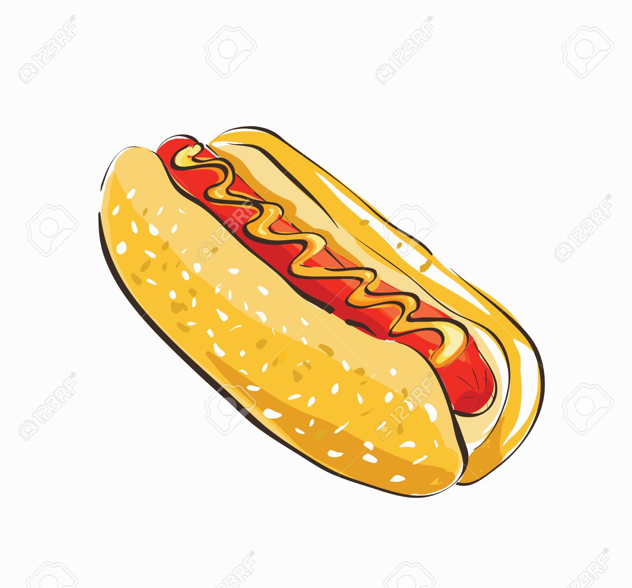 Hot Dog Cartoon. Clip-art, Illustration. Royalty Free Cliparts ...