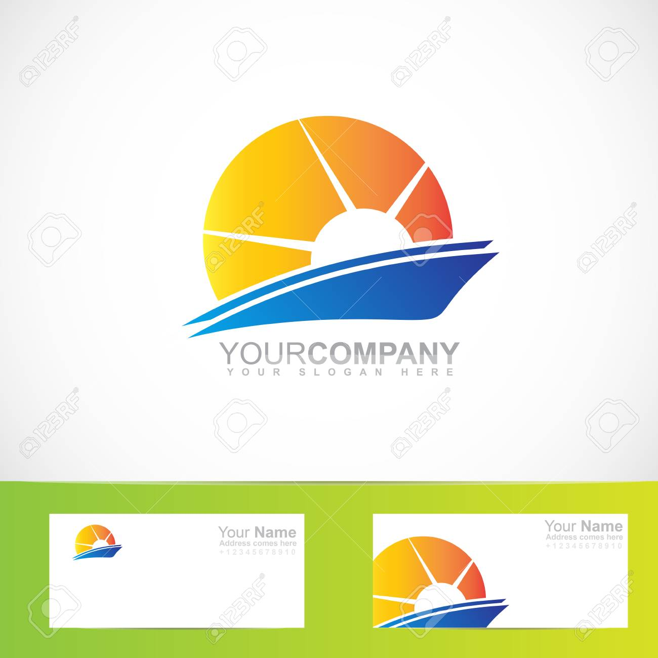 Vector Company Logo Element Template Of Abstract Sun Rays Royalty ...