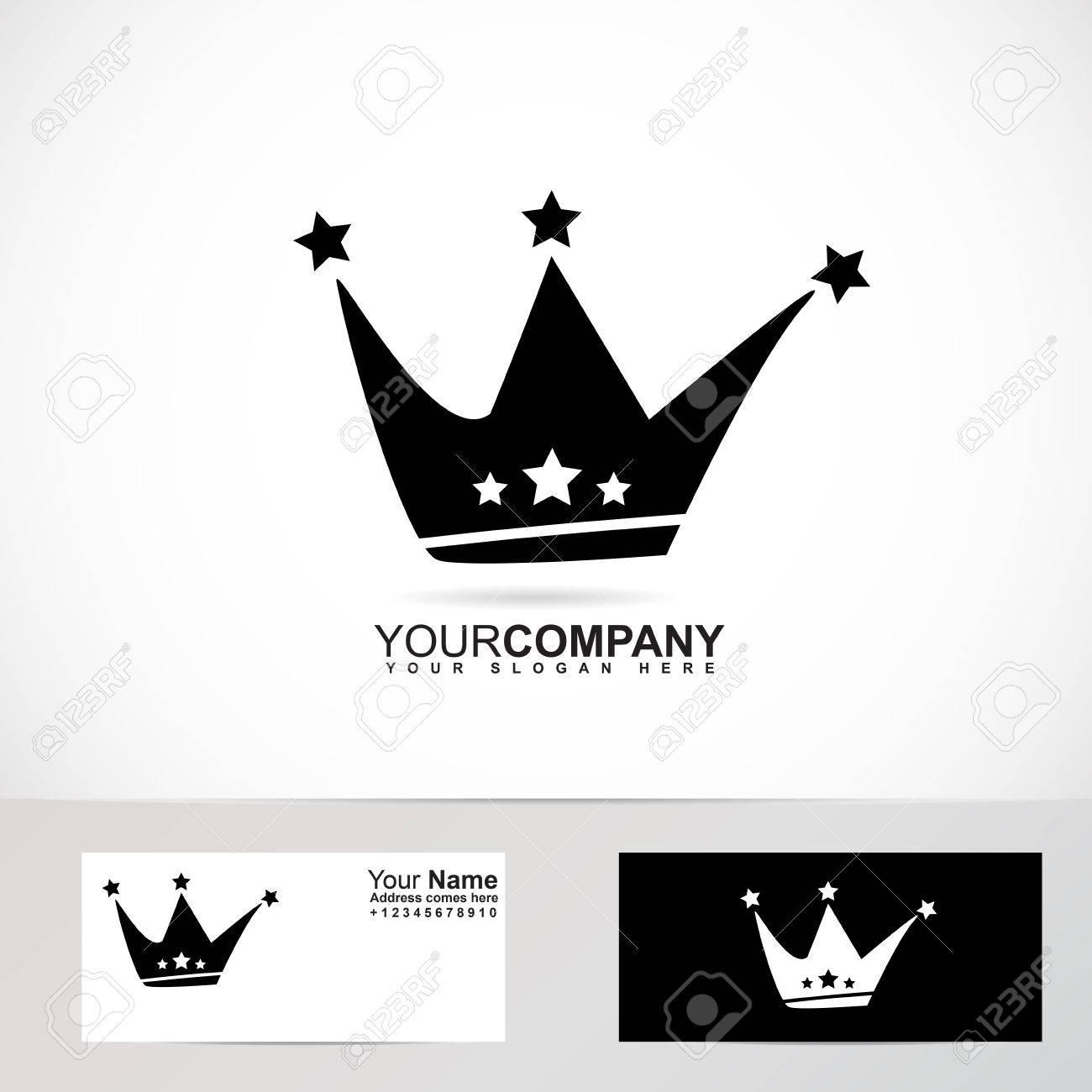 Vector De La Compañía Plantilla Logotipo Elemento De Una Corona De ...