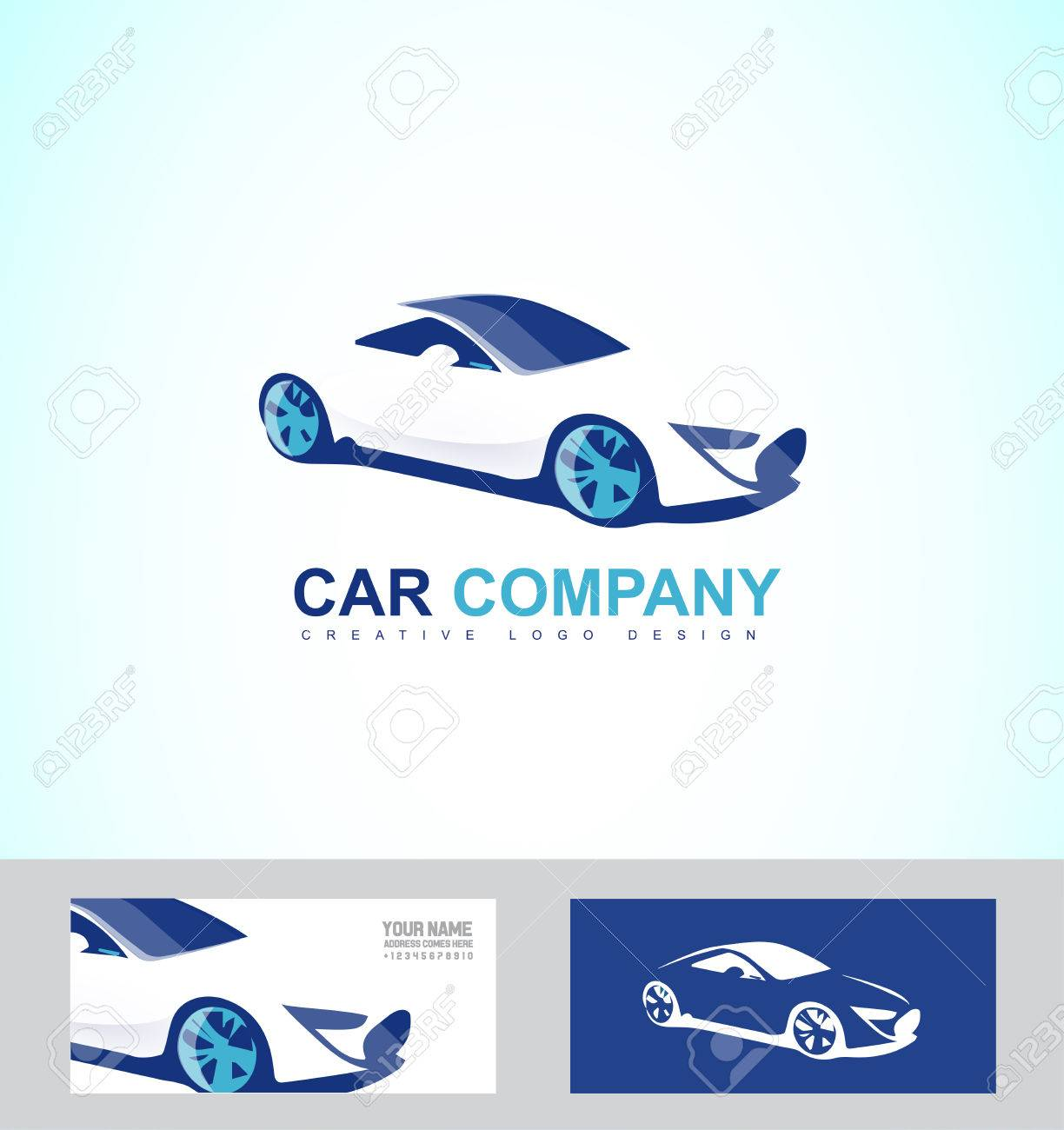Company Logo Icon Element Template Race Luxury Car Repair Service