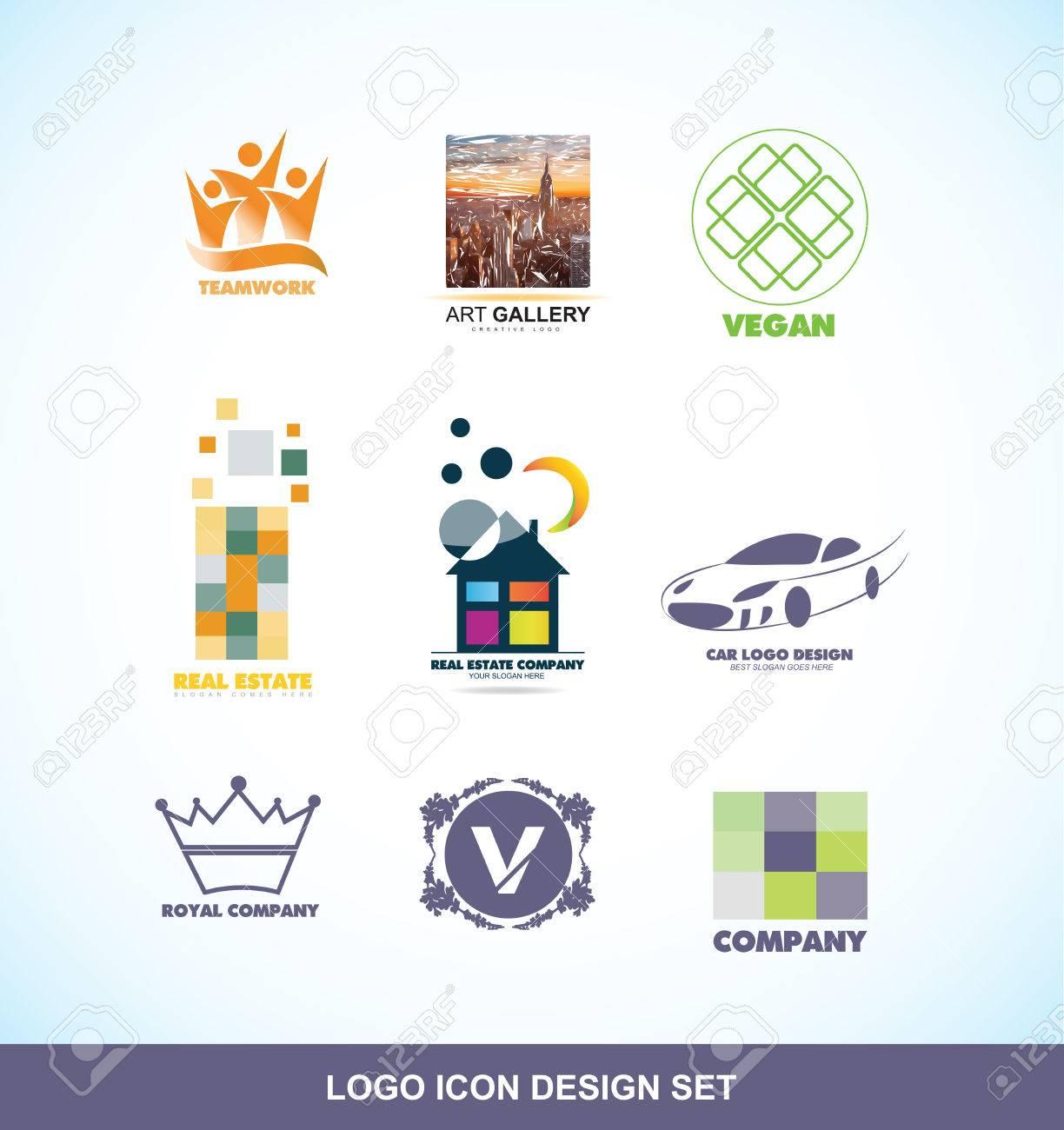 Logotipo De La Empresa Icono De Elemento De Plantilla De La Galería ...
