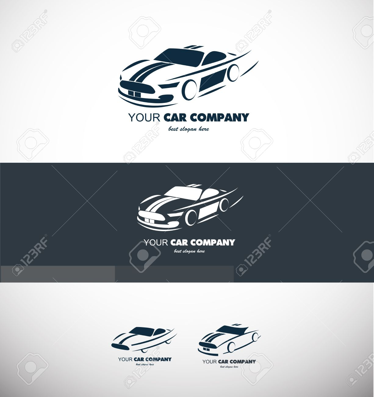 Company Logo Icon Element Template Car Shape Contour Sport Fast