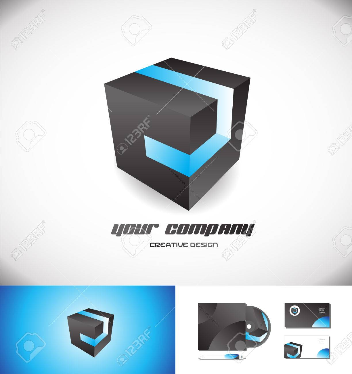Black cube logo icon element template 3d design vector company black cube logo icon element template 3d design vector company blue stripe games media corporate business biocorpaavc Image collections