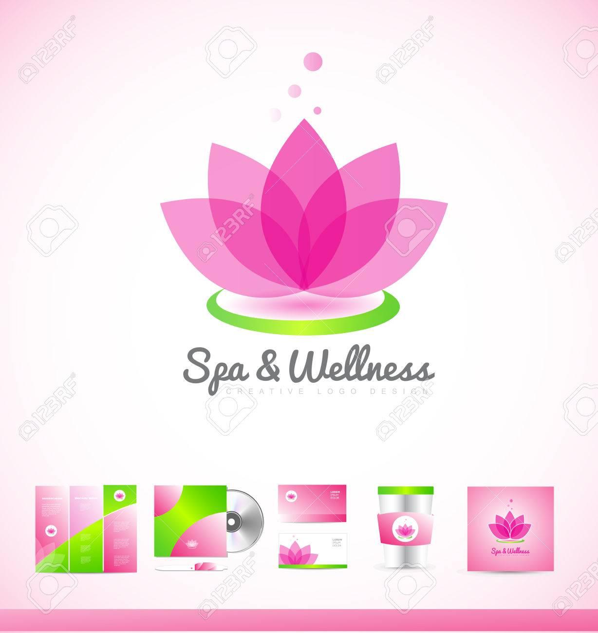 Spa wellness logo  Spa Wellness Beauty Lotusblume-Symbol-Zeichen-Design-Vorlage ...