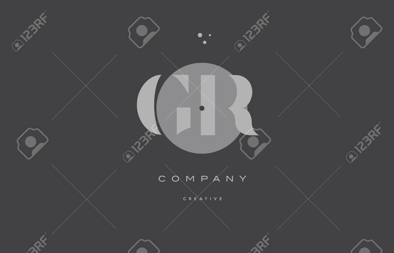 20db4ddd4ccf2 Foto de archivo - Gr gr gris moderno elegante alfabeto punto dots eps  compañía letra logotipo diseño vector icono plantilla